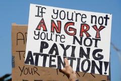 Segno di protesta fotografie stock libere da diritti
