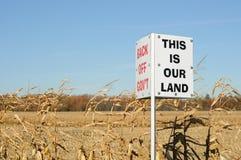 Segno di protesta dei coltivatori immagine stock libera da diritti