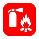 Segno di protezione antincendio e dell'estintore illustrazione vettoriale