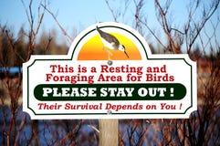 Segno di protezione della fauna selvatica immagine stock libera da diritti