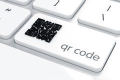 Segno di Qr sulla tastiera di computer royalty illustrazione gratis