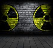Segno di radiazione. immagine stock