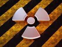 Segno di radioattività Fotografia Stock Libera da Diritti