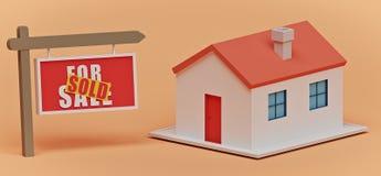 Segno di Real Estate e una Camera rappresentazione 3d illustrazione vettoriale