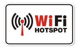 Segno di rettangolo di punto caldo di Wifi Fotografie Stock Libere da Diritti