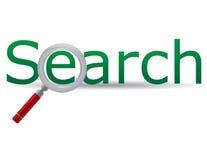 Segno di ricerca Immagini Stock Libere da Diritti