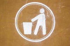 Segno di riciclaggio sporco Immagini Stock