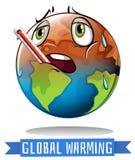 Segno di riscaldamento globale con la fusione della terra Fotografia Stock