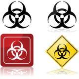 Segno di rischio biologico Immagini Stock