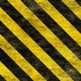 Segno di rischio d'avvertimento di Black&Yellow Fotografia Stock