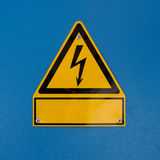 Segno di rischio dello shock elettrico Fotografia Stock