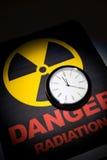 Segno di rischio di radiazione Fotografia Stock Libera da Diritti