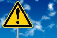 Segno di rischio e del pericolo Fotografia Stock