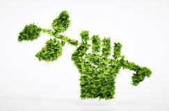 Segno di rivoluzione verde Fotografie Stock