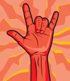 Segno di rock-and-roll Fotografia Stock Libera da Diritti