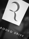 Segno di Rodeo Drive Hollywood Immagini Stock Libere da Diritti