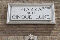 Segno di Roma Immagini Stock