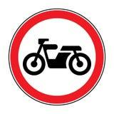 Segno di rosso del motociclo illustrazione di stock