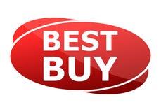 Segno di rosso di Best Buy Fotografie Stock
