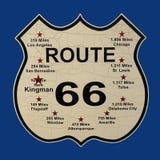 Segno di Route 66, strada principale 66, Stati Uniti degli Stati Uniti Fotografie Stock Libere da Diritti