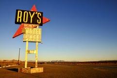 Segno di Roys, Amboy fotografie stock libere da diritti