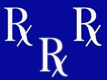 Segno di RX Fotografia Stock