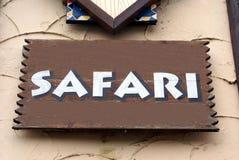 Segno di safari Fotografia Stock