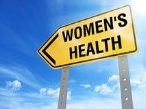 Segno di salute del ` s delle donne illustrazione di stock