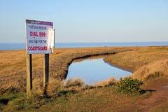 Segno di salvataggio della guardia costiera Fotografie Stock Libere da Diritti