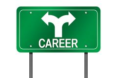Segno di scelte di carriera Immagini Stock Libere da Diritti