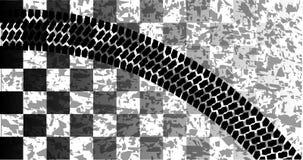 Segno di scivolo della bandiera illustrazione di stock