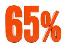 Segno di sconto 3d delle percentuali Immagine Stock