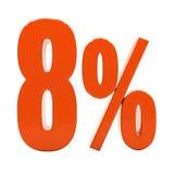Segno di sconto 3d delle percentuali Fotografia Stock