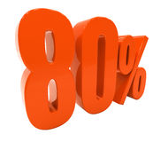 Segno di sconto 3d delle percentuali Immagini Stock