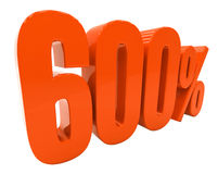 Segno di sconto 3d delle percentuali Fotografia Stock Libera da Diritti