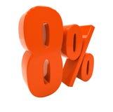 Segno di sconto 3d delle percentuali Immagine Stock Libera da Diritti