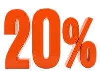 Segno di sconto 3d delle percentuali Fotografie Stock Libere da Diritti