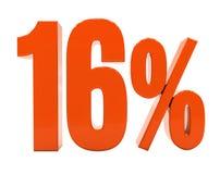 Segno di sconto 3d delle percentuali Fotografie Stock