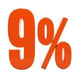 Segno di sconto 3d delle percentuali Immagini Stock Libere da Diritti