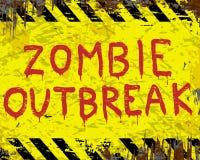 Segno di scoppio dello zombie Immagine Stock Libera da Diritti