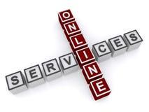 Segno di servizi online Immagine Stock
