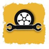 Segno di servizio dell'automobile, manifesto astratto di affari di qualità eccellente illustrazione vettoriale