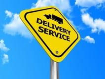 Segno di servizio di distribuzione Immagine Stock
