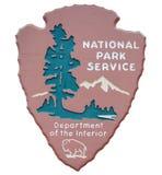Segno di servizio di sosta nazionale Immagini Stock Libere da Diritti