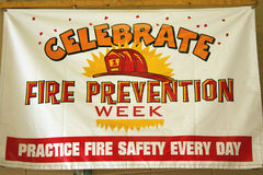 Segno di settimana di protezione contro l'incendio Immagini Stock