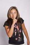 Segno di silenzio con la barretta Fotografie Stock