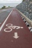 Segno di simbolo dei ciclisti Immagini Stock Libere da Diritti