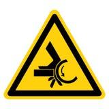 Segno di simbolo del punto a composizione costante del rullo di schiacciamento della mano, illustrazione di vettore, isolato sull royalty illustrazione gratis
