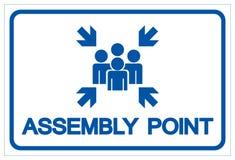 Segno di simbolo del punto di raduno, illustrazione di vettore, isolata sull'etichetta bianca del fondo EPS10 illustrazione di stock