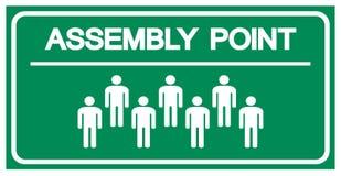 Segno di simbolo del punto di raduno, illustrazione di vettore, isolata sull'etichetta bianca del fondo EPS10 illustrazione vettoriale